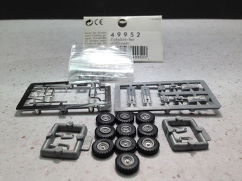 HO 1:87 Busch # 49952 Offroad Accessories - Rollbars, bumpers, wheel sets