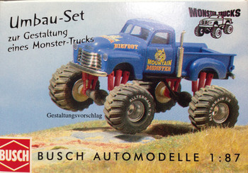 HO 1:87 Busch # 49966 Monster Truck Accessories Large Wheels & Tires,Grille,ETC