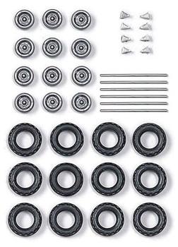 HO 1:87 Busch # 49974 Low Pressure Tires All Terrain w/12 Wheels ~12mm diameter
