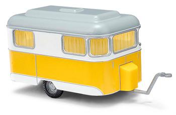 HO 1/87 Busch # 51701 -1958 Nagetusch Camper Trailer Yellow/White