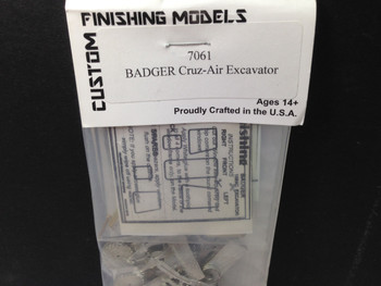 HO 1/87 Custom Finishing # 7061 Badger Rubber Tire Excavator Kit