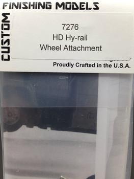 HO 1/87 Custom Finishing # 7276  Heavy Duty Hy-Rail Wheel Attachment (1 set) KIT