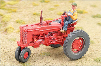 HO 1:87 GHQ # 60001 - 1950's Red Farm Tractor KIT