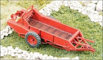"""HO 1:87 GHQ # 60002  """"Red"""" Manure Spreader Kit"""