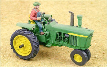 HO 1:87 GHQ # 60004 Green 4020 Tractor w/driver KIT