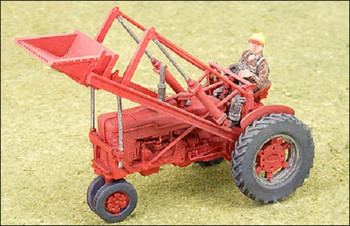 HO 1/87 GHQ # 60005 - 1950's  Red Farm Tractor w/loader KIT
