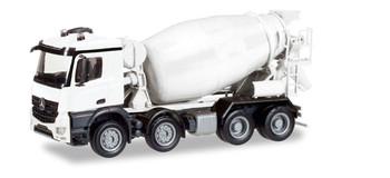 HO 1/87 Herpa # 13147 Mercedes Actros Cement Mixer Truck - MINIKIT