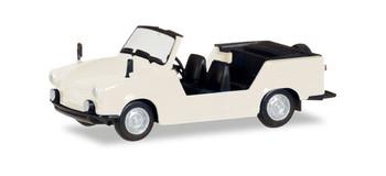 HO 1/87 Herpa # 24808  Trabant Tramp Convertible - White