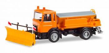 HO 1/87 Herpa # 309547 MAN F 8  Winter Service Truck - Snow Plow/Sander Orange