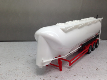 HO 1:87 Herpa # 75909-002 Tri-axle 55 Cubic Meter 3-A Bulk Tank Trailer