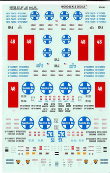 HO 1:87 Microscale # 87-638 ATSF 45'/48'/53' Container Decals - A-Line # 25808