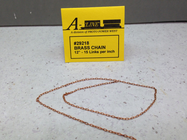 HO 1:87 A-Line # 29218 Brass Chain 12'' - 15 Links per inch