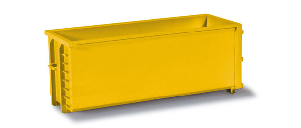 HO 1/87 Herpa # 53082-005 Roll-off Containers - Yellow - (2 pcs.)