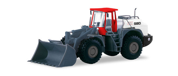 HO 1:87 Herpa # 308854 Liebherr Wheel Loader - BTB Berlin Red/White/Grey