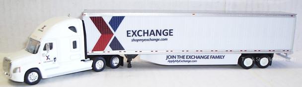 HO 1:87 TNS-30110  AAFES Freightliner Cascadia sleeper (join the Exchange family) w/53' dry van - 224