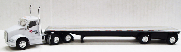 HO 1:87 TNS-081 KW T680  w/48' Split Axle Flatbed Cardinal Logistics