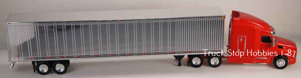 HO 1:87 TSH # 541190 Peterbilt 579 Tractor w/53' Dry Van Chrome Trailer -Red