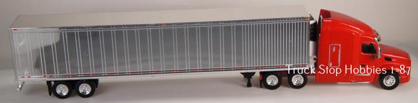 HO 1:87 TSH # 541191 Peterbilt 579 Tractor w/53' Reefer Van Chrome Trailer - Red