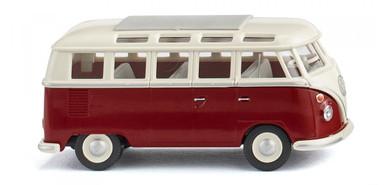 Burgundy 1:87 Scale HO Wiking Volkswagen Transporter Cargo Van Red