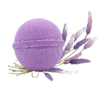 Hemp Infused Bath Bomb by küribl.  Lavender scented.