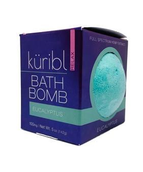 Hemp Infused Bath Bomb by küribl.  Eucalyptus scented.
