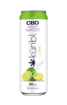 Seltzer Water LIME 20mg CBD 4pack Cans