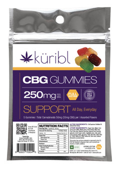 CBG 250MG Gummies - 5 pack