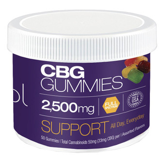 CBG Tub FS 2500mg gummies 50pk