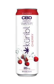 Seltzer Water Cherry 20mg CBD 4pack cans