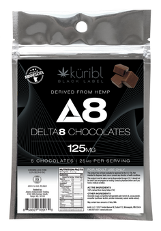 Blk Label  25MG chocolates (5 pack)