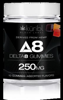 Blk Label 25MG Gummies - 10 count Jar