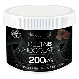 Blk Label 5MG Chocolates - 40 count tub