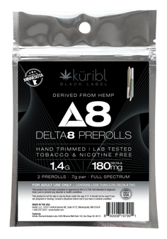 2 pack of Delta8 hemp prerolls