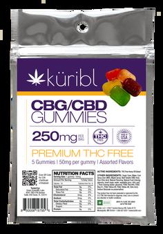 THC FREE CBG/CBD - Gummie 5 Pack