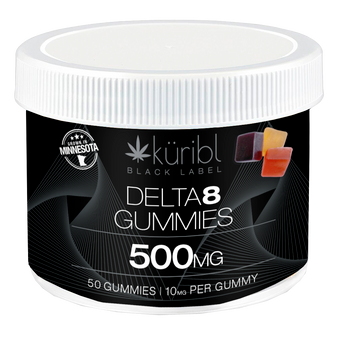 50 count tub of Delta8 10MG gummies.  5 flavors. Serving size, 1 gummie recommended