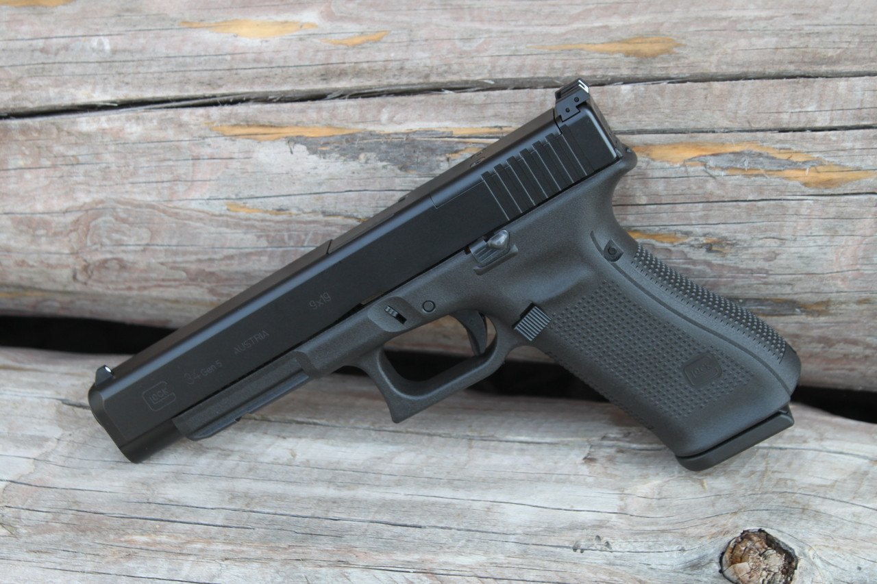 Glock 34 Gen 5 Mos 9mm New Dearborn Outdoors The tension is adjustable, and it comes with parts to turn it into a paddle holster if got this for a new gen 3 glock 34. glock 34 gen 5 mos 9mm new