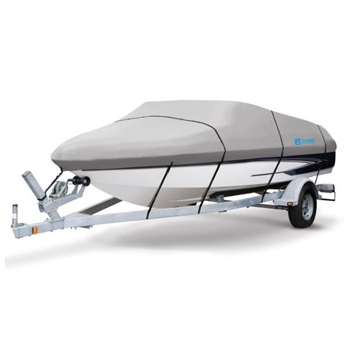 """Hurricane Trailerable Boat Cover 12' to 14' V-Hull Fishing Boats (beam width to 75"""")"""