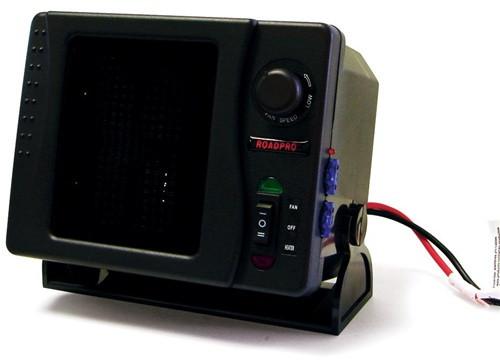 RoadPro 12 Volt Direct Wired Ceramic 300 Watt Universal Heater/ Fan
