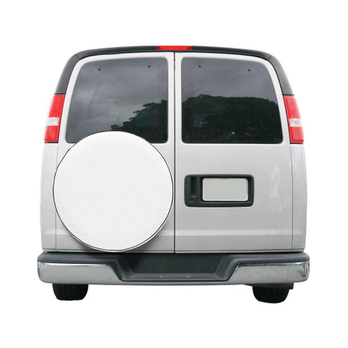 "Custom Fit Spare Tire Cover 24""  to 25"" - White Model 2"