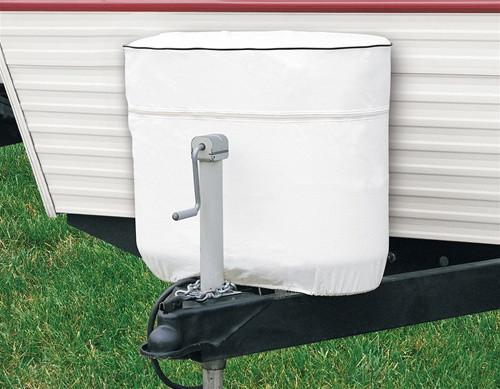 RV Propane Tank Cover, (Double 20-5 Gallon) - White