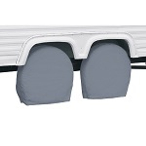 """RV Trailer Wheel Storage Covers 24"""" to 26.5"""" Tall Tire 