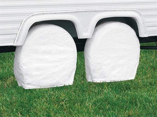 """RV Trailer Wheel Storage Covers 26.75"""" to 29"""" Tall Tire 