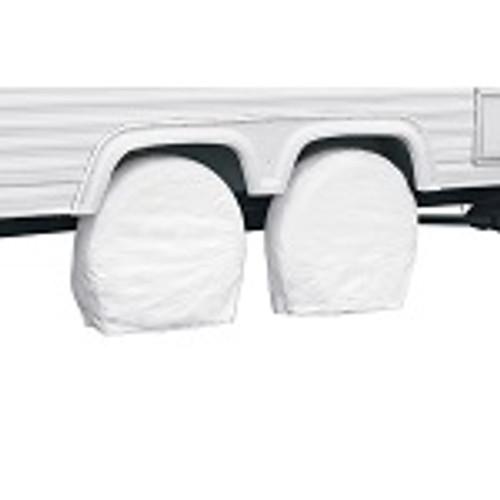 "RV Wheel Storage Covers Pair White - 32"" - 34.5"" Diameter"