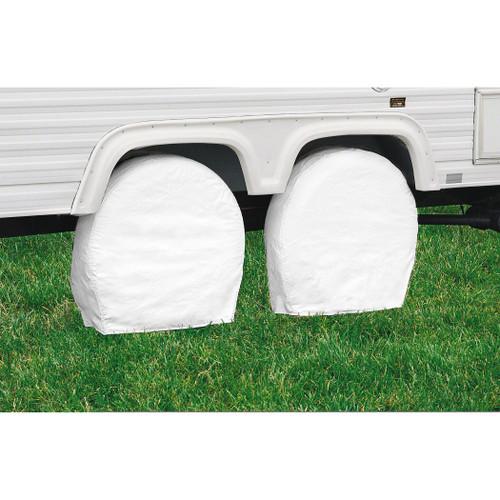 "RV Wheel Storage Covers Pair White - 36"" - 39"" Diameter"
