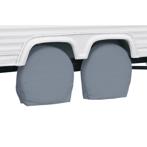 "RV Wheel Storage Covers Pair Grey - 36"" - 39"" Diameter"