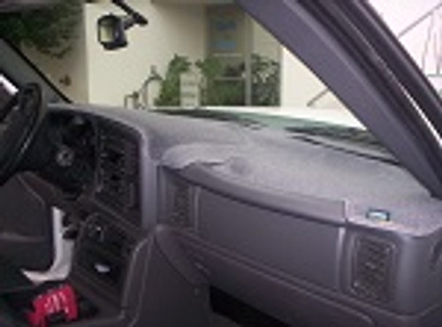 Chevrolet Chevette 1976-1987 No AC Carpet Dash Cover Mat Charcoal Grey
