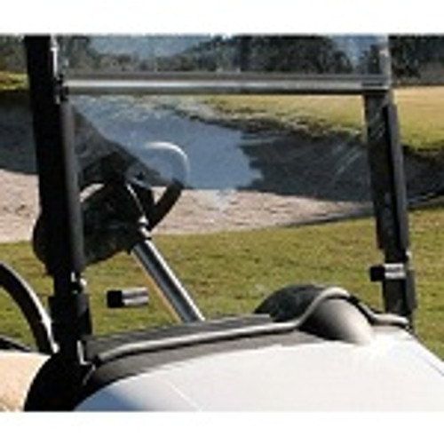 EZGO RXV Golf Cart 2008-Up Clear Folding Front Windshield w/ Rubber Trim