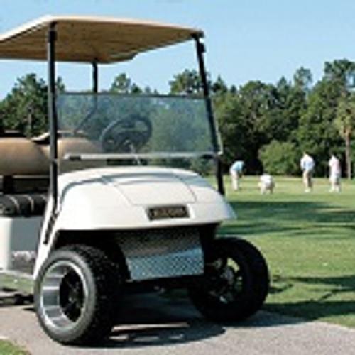 EZGO TXT T48 Golf Cart 2014-Up Clear Folding Front Windshield Bolt On