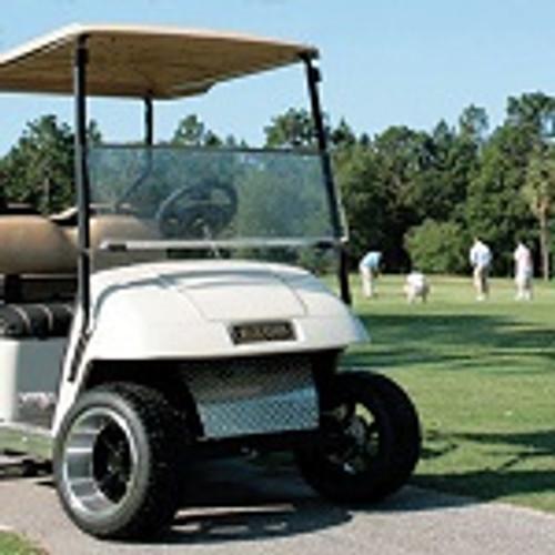 EZGO TXT T48 Golf Cart 2014-Up Tinted Folding Front Windshield Bolt On