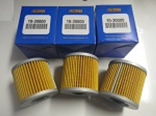 1980 Kawasaki KZ250D Ltd EMGO 10-30000 Oil Filter 3 Pack
